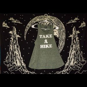 """Tops - """"Take a hike"""" athletic racerback tank top"""